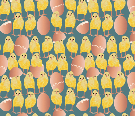 a lot of chickens fabric by kociara on Spoonflower - custom fabric