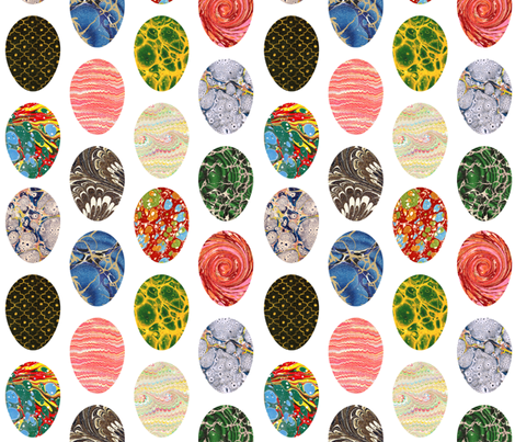 Marbled Eggs fabric by elizabethdoyle on Spoonflower - custom fabric