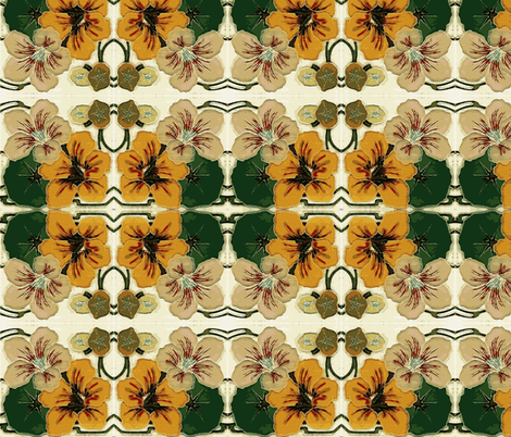 Nasturtiums fabric by flyingfish on Spoonflower - custom fabric