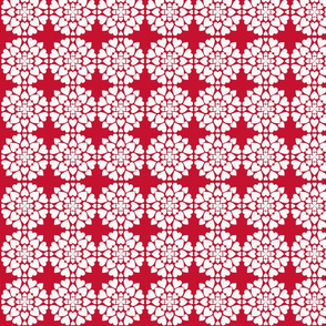 Heart Doily Red-ch