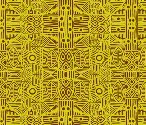 Tiki Green fabric by flyingfish on Spoonflower - custom fabric