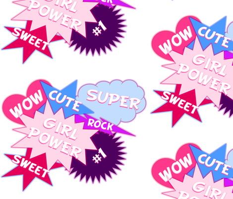 Girl Power fabric by savagelystitched on Spoonflower - custom fabric