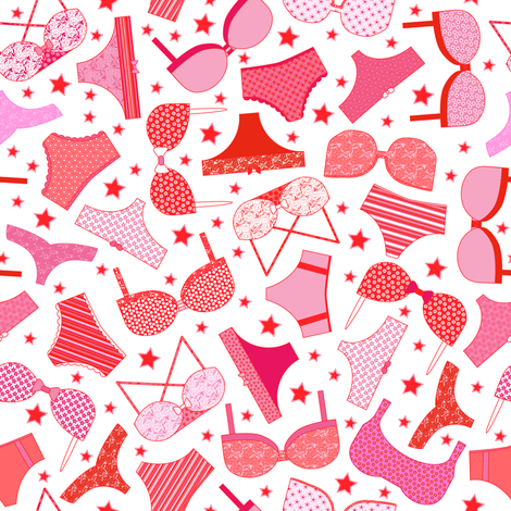 Skivvies Star fabric by mag-o on Spoonflower - custom fabric