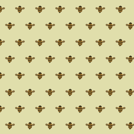 hey bee fabric by molipop on Spoonflower - custom fabric