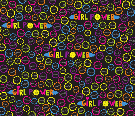 I Am Girl Power fabric by creativitylizette on Spoonflower - custom fabric