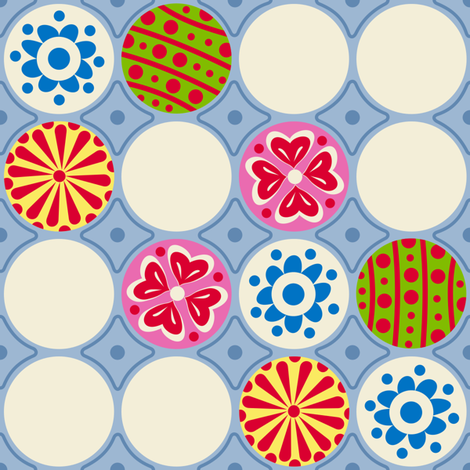EggCarton Polka Dots fabric by yellowstudio on Spoonflower - custom fabric