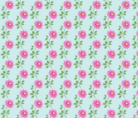 Colorful flowers fabric by mezzime on Spoonflower - custom fabric