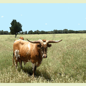 HL_Longhorn_Bull_Watercolor
