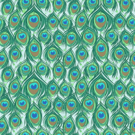 Peacock feathers  fabric by mezzime on Spoonflower - custom fabric