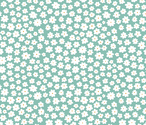 Ditsy Flowers fabric by joannehawker on Spoonflower - custom fabric