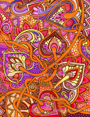 The Call of the Minaret  (a flaming orange abstract)