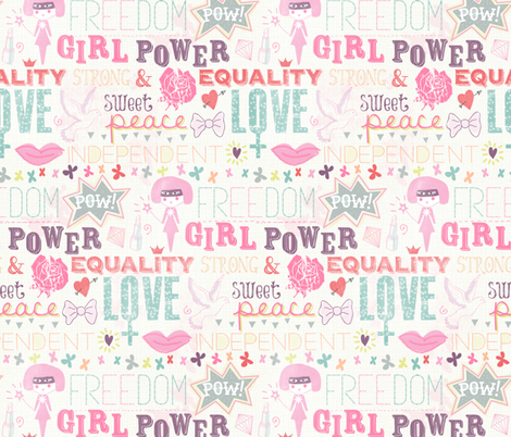 Be a girl ! fabric by demigoutte on Spoonflower - custom fabric