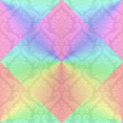 Rainbow Damask