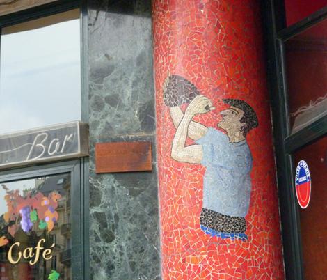 Old Wine Bar, Paris fabric by susaninparis on Spoonflower - custom fabric