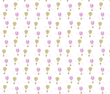 Dream hot air balloons fabric by lilufc on Spoonflower - custom fabric