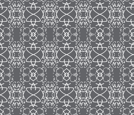 Sign of our Times, gray and white fabric by susaninparis on Spoonflower - custom fabric