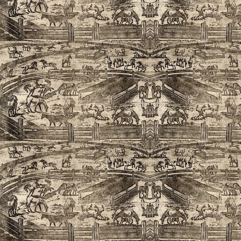 Show Ring Toile fabric by ragan on Spoonflower - custom fabric