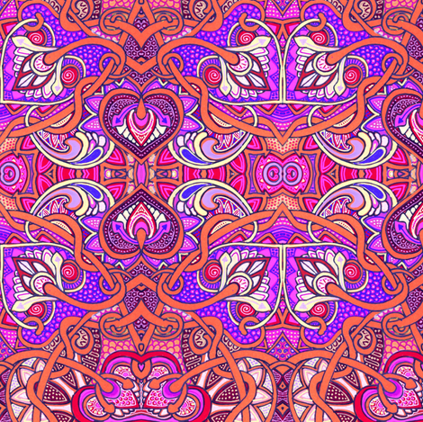 A Bright and Tangled Tango fabric by edsel2084 on Spoonflower - custom fabric