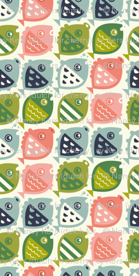 fishies (green pink blue)