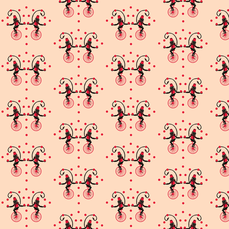 Circus Monkey Red Hat fabric by hemligdolls on Spoonflower - custom fabric