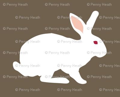 White Rabbit on Brunneous