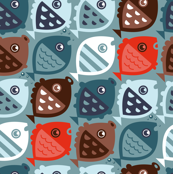 fishies (blue brown orange)