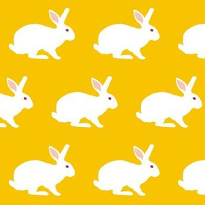 White Rabbit on Goldenrod