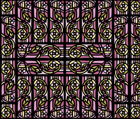 Stained Glass pattern fabric by martaharvey on Spoonflower - custom fabric