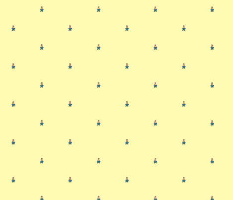 Mellow Yellow 30s Bunny fabric by juliaschlang on Spoonflower - custom fabric