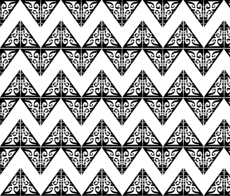 Fancy Wide Chevron - Black and White fabric by martaharvey on Spoonflower - custom fabric