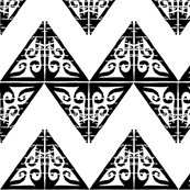 Fancy Wide Chevron - Black and White