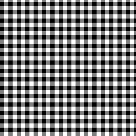 black and white gingham fabric by weavingmajor on Spoonflower - custom fabric
