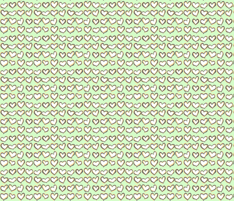 Hearts a Flutter Mint fabric by lucyblaire on Spoonflower - custom fabric
