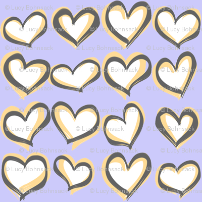 Hearts a Flutter Periwinkle