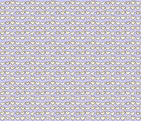 Hearts a Flutter Periwinkle fabric by lucyblaire on Spoonflower - custom fabric