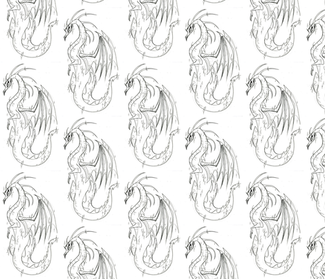 Lady dragon fabric by mezzime on Spoonflower - custom fabric