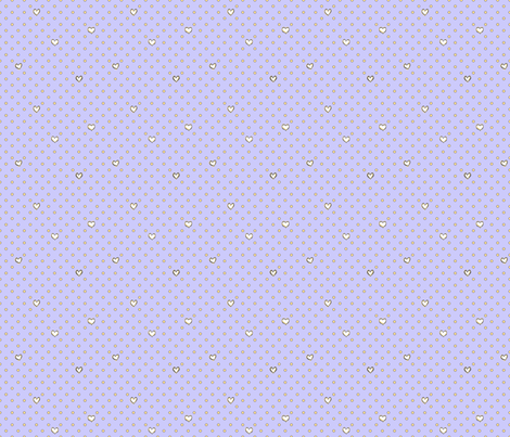 Love for Dots Periwinkle fabric by lucyblaire on Spoonflower - custom fabric