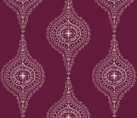 Moroccan Plum fabric by hazelrose on Spoonflower - custom fabric