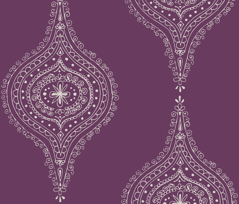Moroccan Plum fabric by hazelrose on Spoonflower - custom fabric