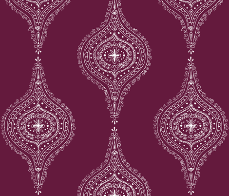 Plum fabric by hazelrose on Spoonflower - custom fabric