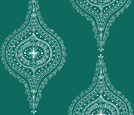 Moroccan Teal fabric by hazelrose on Spoonflower - custom fabric