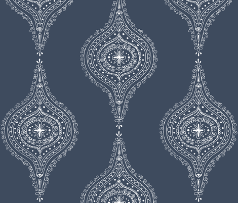 Moroccan Blue fabric by hazelrose on Spoonflower - custom fabric