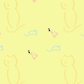 Cat, Bird 'n  Mouse