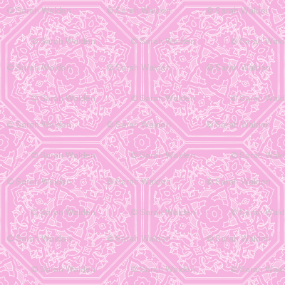 Persian Tile ~ Pink & White ~ Impulse