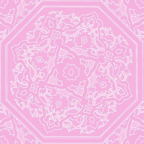Persian Tile ~ Pink & White ~ Impulse