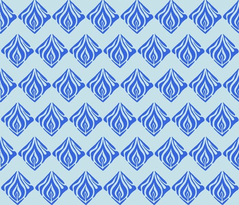 Flame Chevron fabric by martaharvey on Spoonflower - custom fabric