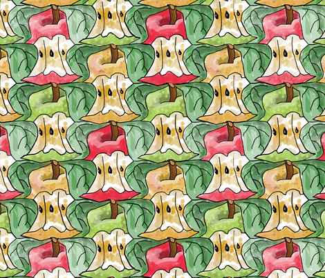 Apple Cores Larger fabric by eclectic_house on Spoonflower - custom fabric