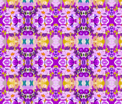 Small Print Lavender and Violet Floral   fabric by theartwerks on Spoonflower - custom fabric