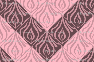 Flame Chevron wide - pink brown