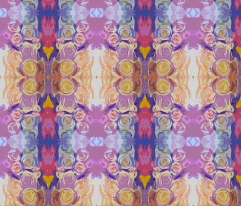 Abstracted Pastel Roses Floral Print. fabric by theartwerks on Spoonflower - custom fabric